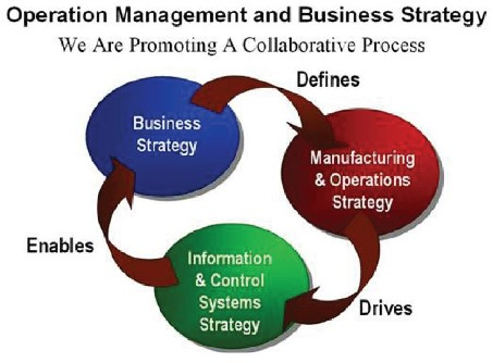 Figure 1. The control strategy links the business strategy and the manufacturing strategy.
