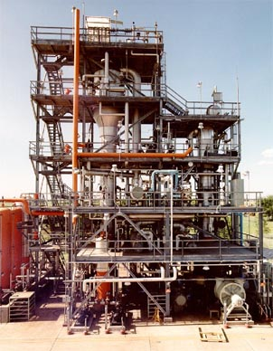 Figure 1. FRI has both high- and low-pressure commercial-size distillation columns.