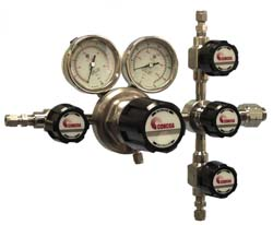 Figure 1. This regulator features a captive vent kit and a deep purge assembly that ensures virtually zero release of gases.