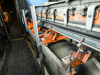 Impact Cradles --Figure 2. Installed in the loading zones on each conveyor, these create a flat edge for improved containment.