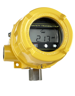 Safety Transmitter -- Figure 1. Device eliminates the need for a programmable logic controller and cuts system reaction time. Source: United Electric Controls.