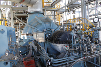 Driver For Blower -- Figure 1. This steam turbine drives a large gas blower.