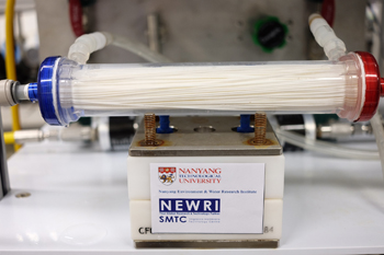 Single-Step Process -- Figure 1. NTU's nanofiltration hollow fiber membrane combines both ultrafiltration and reverse processes into one step. Source: NTU.