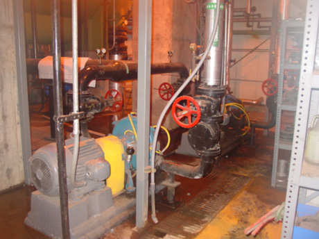 PROCESS PUMP -- Figure 2. Electric-motor-driven pumps such as this are common at process plants.