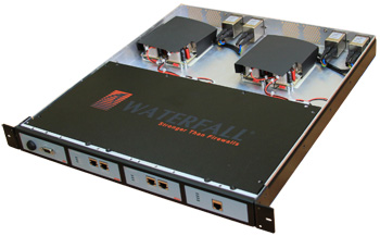 "UNIDIRECTIONAL GATEWAY -- Figure 1. This device, which features ""flip"" technology, permits flow back to the control system but in a highly controlled and protected way."